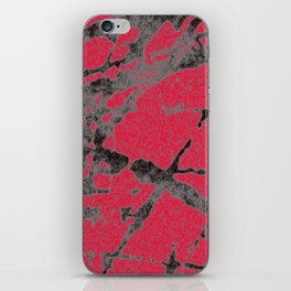 red black scratchy grunge iPhone Skin