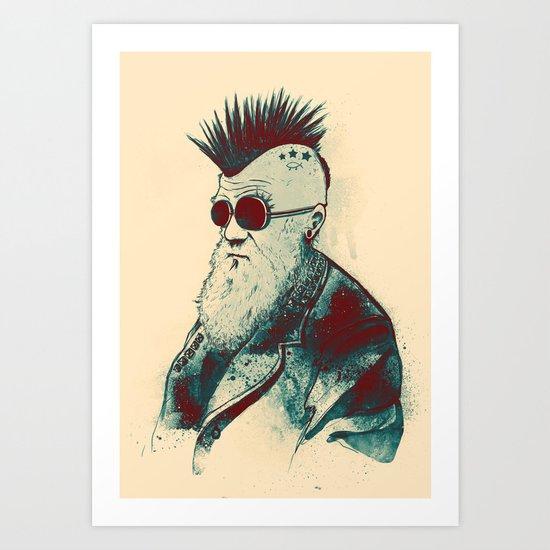 Evolution of Charles Art Print