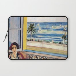 Seated Woman, Back Turned to the Open Window of Ocean & Seaside by Henri Matisse Laptop Sleeve