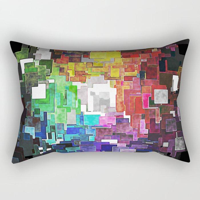 Spectral Geometric Abstract Rectangular Pillow