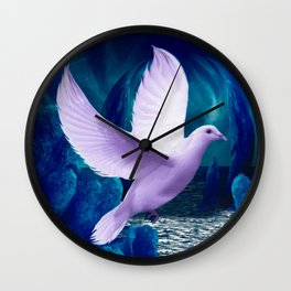 The Spiritual Realm - Dove Wall Clock
