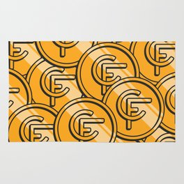 Coinfinds Logo Pattern Rug