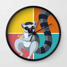 Lemur Colorful Wall Clock