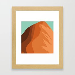 sand land Framed Art Print