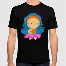 Happy Tuesday! - Fun, sweet, unique, creative and colorful, original,digital children illustration Black SMALL Mens Fitted Tee
