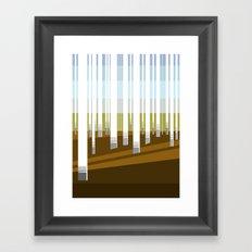 Minimal Finland (silver birch forest) Framed Art Print