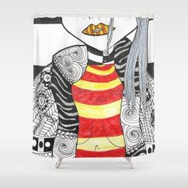 Geishas Temple Shower Curtain