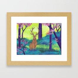 Goden Deer Framed Art Print