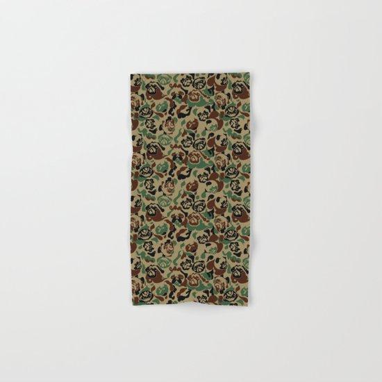Pug Camouflage Hand & Bath Towel