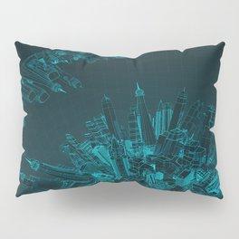 Future City Blue Pillow Sham