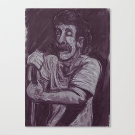 Dan Smith in charcoal Canvas Print