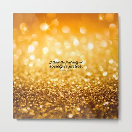 "I think the first... ""Alexander Hamilton"" Inspirational Quote Metal Print"