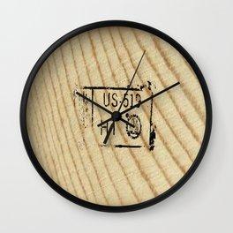 Lumber Stamp Wall Clock