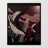 carnage Canvas Prints featuring Whale Carnage by Earnestly Elsewhere