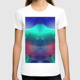 Vibrant Symmetry Oil Droplets T-shirt