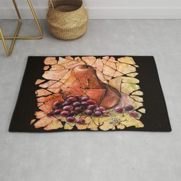 Pear and Grapes Fresco Rug