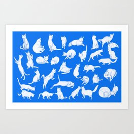 Catwalk (in blue) Art Print