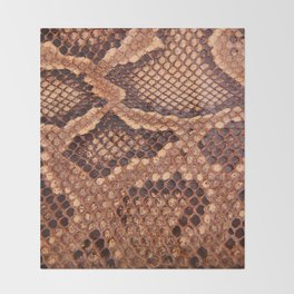Snake Skin Texture Throw Blanket