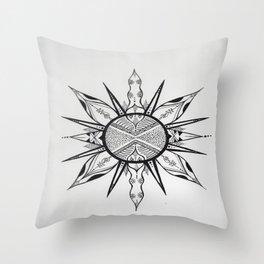 Unalome Detail Throw Pillow
