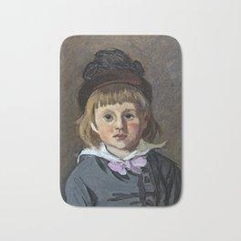 Portrait de son fils Jean en bonnet à pompon, Claude Monet Bath Mat
