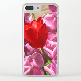 Prima Donna Among The Tulips Clear iPhone Case