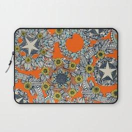 cirque fleur orange stone star Laptop Sleeve