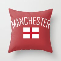 manchester Throw Pillows featuring Manchester by Earl of Grey