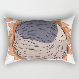 Hedgehog Yin Yang Rectangular Pillow