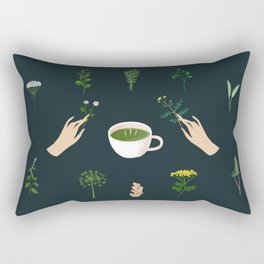 Magical Herbal Tea Rectangular Pillow