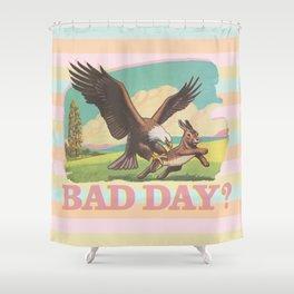 Bad Day Bunny & Rainbow Shower Curtain