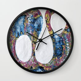 A Grandly Missed Connection -- Colorful Loops Wall Clock