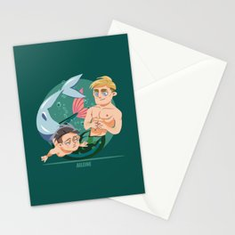 Husband Material: Mermen Stationery Cards
