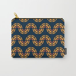 Orange and Blue Geometric Snake Pattern Carry-All Pouch