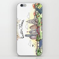 austin iPhone & iPod Skins featuring We Belong in Austin by Brooke Weeber