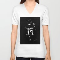 louis V-neck T-shirts featuring TMH Louis by Cyrilliart