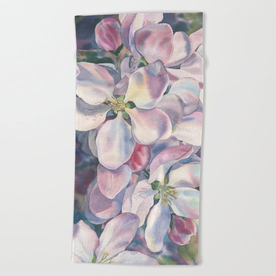 """Blossoming apple-tree"" Beach Towel"