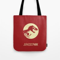 jurassic park Tote Bags featuring Jurassic Park by :: Fan art ::