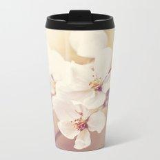 Pastel Apple Bloom Metal Travel Mug