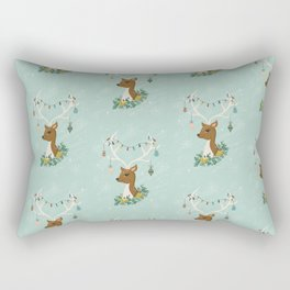 Vintage Inspired Deer with Decorations Rectangular Pillow