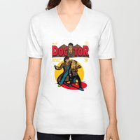 comic V-neck T-shirts featuring Doctor Comic by harebrained