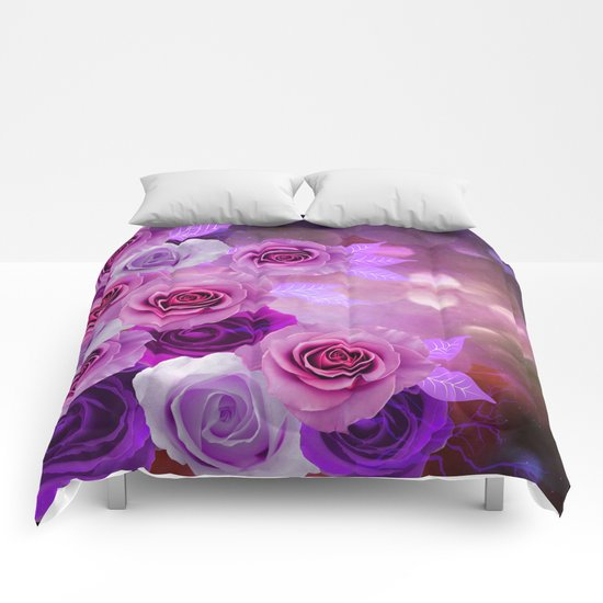 Rose Glow Abstract Comforters