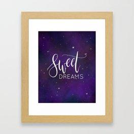Sweet drams Framed Art Print