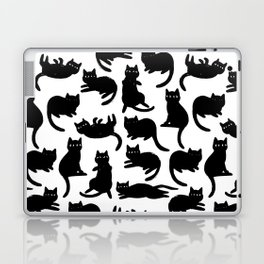 Black Cat Poses Laptop & iPad Skin
