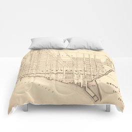Vintage Map of Georgetown (Washington D.C.) 1876 Comforters