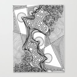 """GLOBULE"" Weird Psychedelic Art Canvas Print"