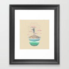 Clouds fisherman Framed Art Print