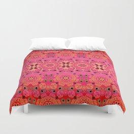 Pink Haze Bandana Ombre' Stripe Duvet Cover