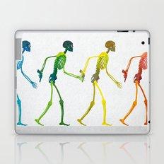 walking sketeton with gun Laptop & iPad Skin