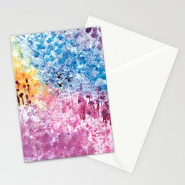 Abstract Landscape Illustration Stationery Cards