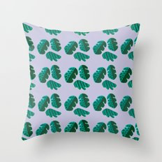 Monster tropical plants Throw Pillow